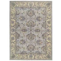 Sepia Grey Ivory Traditional Area Rug by Nourison (5'6 x 8'6)