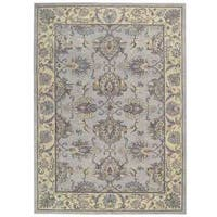 Sepia Grey Ivory Traditional Area Rug by Nourison - 5'6 x 8'6