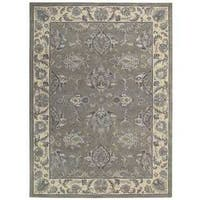 Sepia Grey Beige Traditional Area Rug by Nourison (5'6 x 8'6)