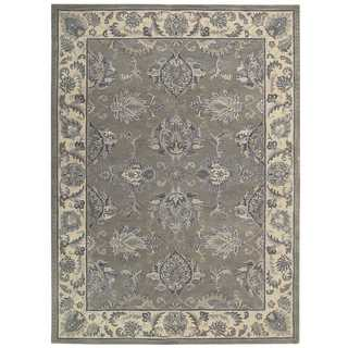 Sepia Grey Beige Traditional Area Rug by Nourison