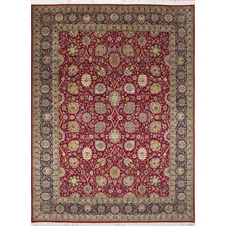 Pak-Persian Nash Red Hand-Knotted Rug (9'0 x 12'5)