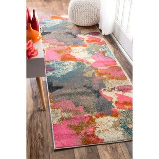 nuLOOM Abstract Vintage Fancy Multi Runner Rug (2'6 x 8')