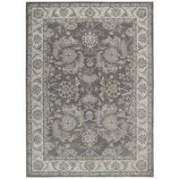 Sepia Grey Traditional Area Rug by Nourison - 5'6 x 8'6