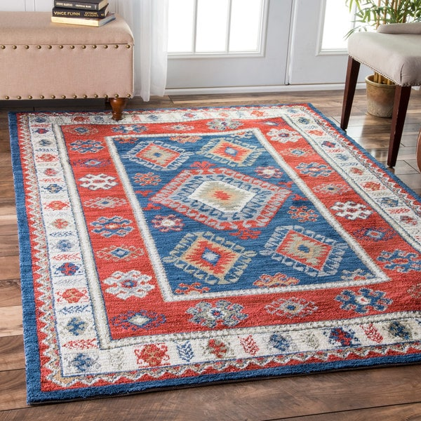 Shop Nuloom Traditional Patriotic Tribal Multi Rug 7 6 X