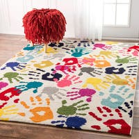 Clay Alder Home Hillsboro Contemporary Handprint Collage Multi Rug (8'x 10')
