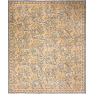 Peshawar Nixon Light Blue Hand-Knotted Rug (8'1 x 9'10)