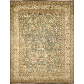 Kyndall Light Green Hand-Knotted Rug (8'11 x 11'9)