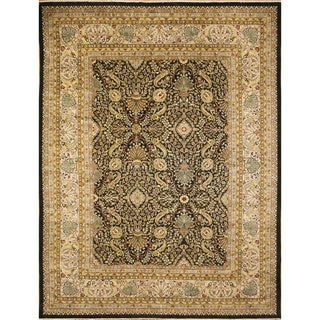 Coleton Dark Green Hand-Knotted Rug (9'2 x 12'9)