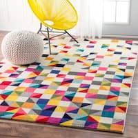 Clay Alder Home Hillsboro Contemporary Triangle Mosaic Multi Rug (4' x 6')