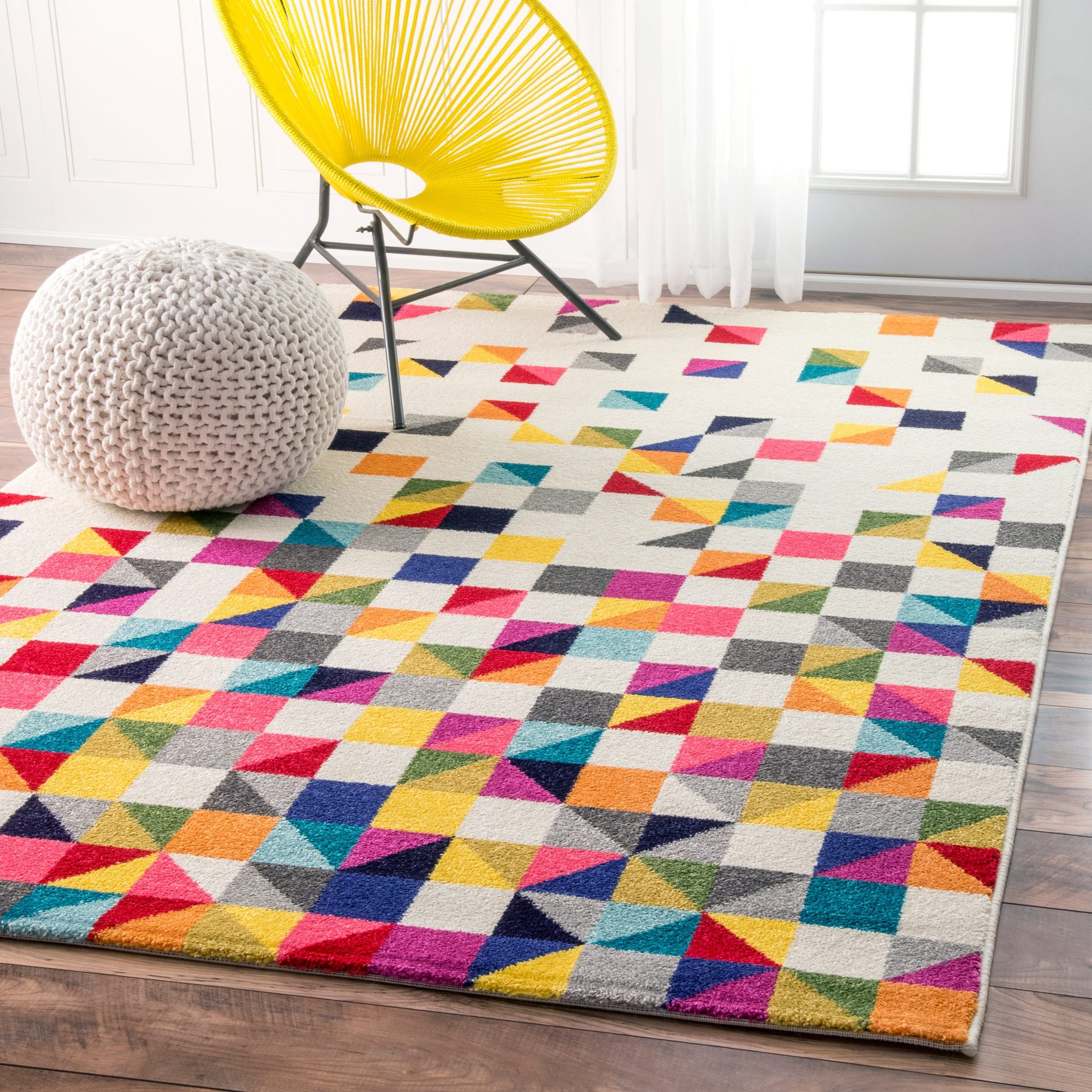 Shop Nuloom Contemporary Triangle Mosaic Multi Rug 9 X 12