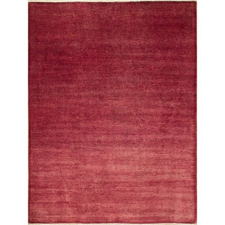 Overdyed Kyndall Dark Pink Hand-Knotted Rug (8'9 x 11'8)