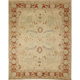 Peshawar Clifton Gold Hand-Knotted Rug (9'0 x 11'9)