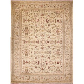 Peshawar Lynsey Ivory Hand-Knotted Rug (8'5 x 11'0)