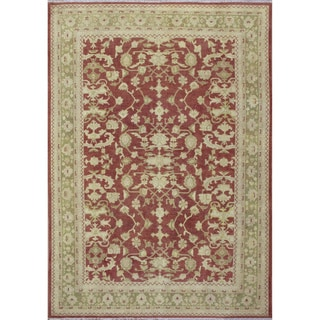 Peshawar Mildred Rust Hand-Knotted Rug (9'1 x 12'3)