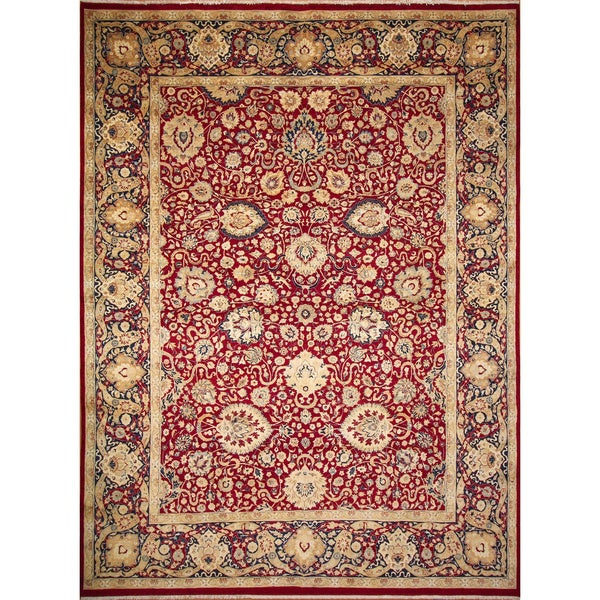 Villads Red Hand-Knotted Rug (10'2 x 12'10)