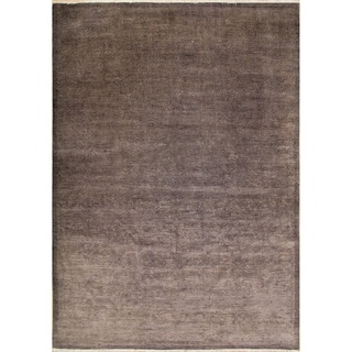 Overdyed Lindsay Aubergine Hand-Knotted Rug (8'11 x 12'2)