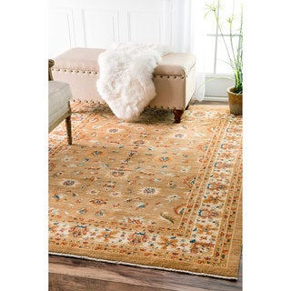 nuLOOM Traditional Persian Timeless Orchard Ivory Rug (4' x 5'7)