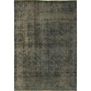 Distressed Beckham Blue Hand-Knotted Rug (6'8 x 9'6)