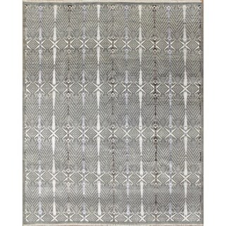 Fine Oushak Rovena Grey Hand-Knotted Rug (8'0 x 9'10)