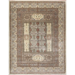 Indo Transitional Abderrahim Ivory Hand-knotted Rug (9'2 x 12'1)