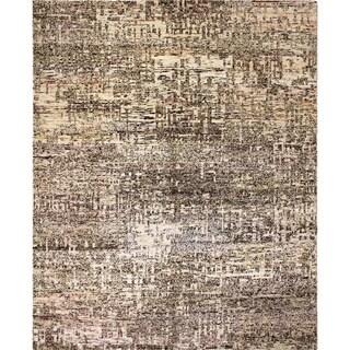 Sari Silk Ashly Beige Hand-Knotted Rug (8'4 x 10'1)