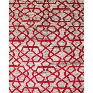 Sari Silk Ryder Beige Hand-Knotted Rug (8'1 x 9'8)