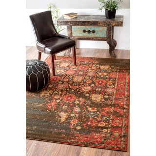 nuLOOM Traditional Persian Modern Vintage Multi Rug (9' x 12')