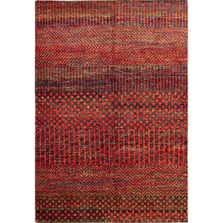 Sari Silk Etel Rust Hand-Knotted Rug (6'6 x 9'7)
