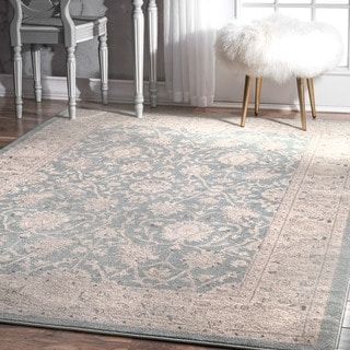 nuLOOM Traditional Persian Vintage Blue Rug (6'7 x 9')