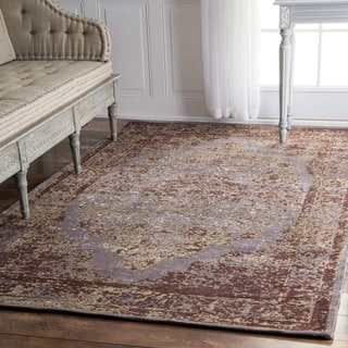 nuLOOM Traditional Medallion Border Taupe Rug (6' x 9')
