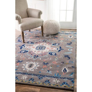nuLOOM Overdyed Persian Palace Wool Grey Rug (5' x 8')