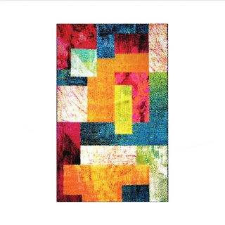 """Home Dynamix Splash Collection Multi-Colored 19.6"""" X 31.5"""" Machine Made Polypropylene Accent Rug"""