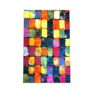 "Home Dynamix Splash Collection Mulit-Colored 19.6"" X 31.5"" Machine Made Polypropylene Accent Rug"