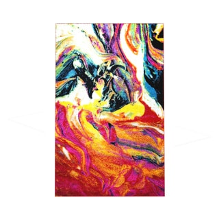 "Home Dynamix Splash Collection Multi-Colored 19.6"" X 31.5"" Machine Made Polypropylene Accent Rug"