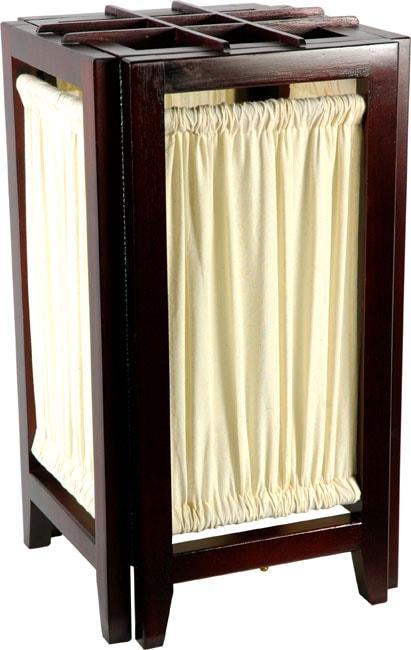 Handmade 18 Inch Marupa Wood One Bulb Helsinki Shoji Lamp (China)