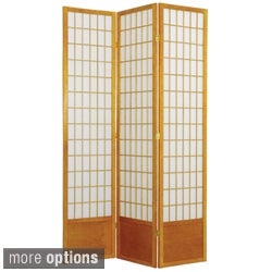 Handmade Wood and Rice Paper Windowpane 84-inch Shoji Screen (China)