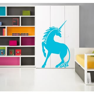 Blue Fairy Tale Magical Unicorn Wall Art Sticker Decal
