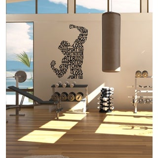 Sport bodybuilder trainer apparatus gym muscle force Wall Art Sticker Decal
