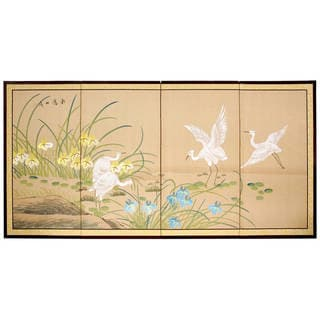 Handmade Birds on the Pond Shoji Silkscreen