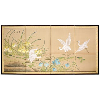 Birds on the Pond Shoji Silkscreen (China)
