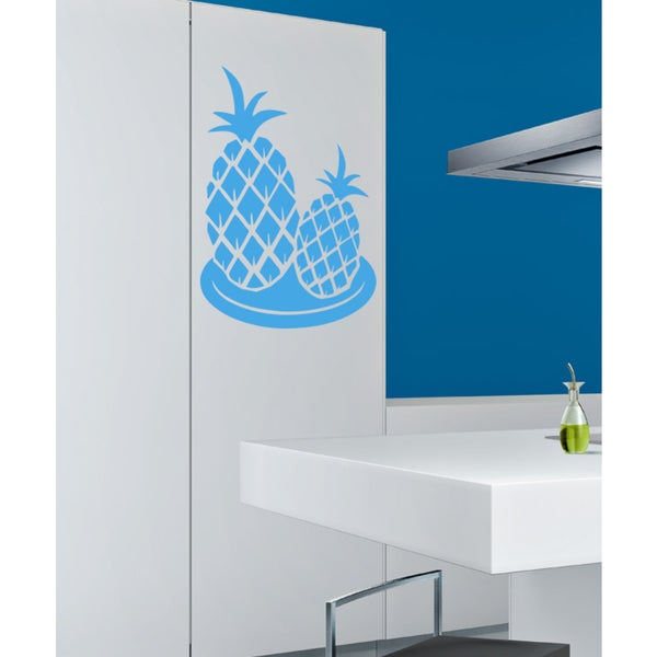Still pineapple Wall Art Sticker Decal Blue