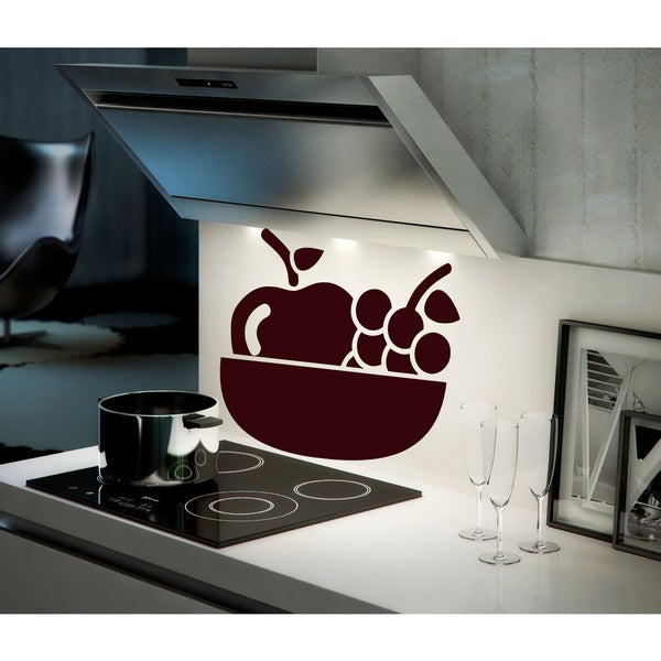 Shop Grape and apple Wall Art Sticker Decal Red - Free Shipping On ...