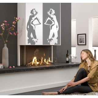Silhouette of fashionable women Wall Art Sticker Decal Silver