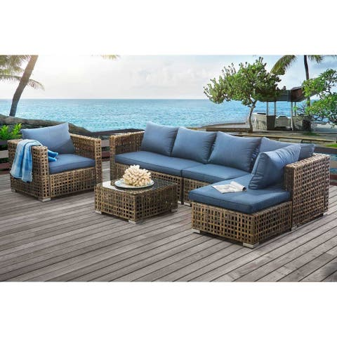 Sunjoy Kyle 5-piece Wicker Seating Set