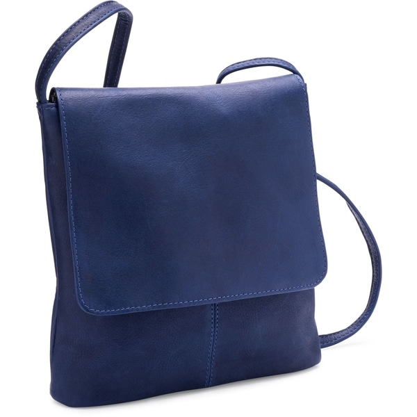 21e12bb017b Shop LeDonne Leather Simple Flap Over Crossbody Handbag - Free ...