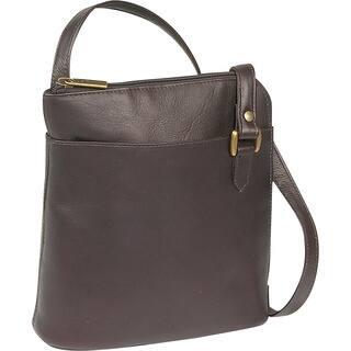 LeDonne Women's Handcrafted Leather L-Zip Crossbody Shoulder Handbag|https://ak1.ostkcdn.com/images/products/11761108/P18675797.jpg?impolicy=medium