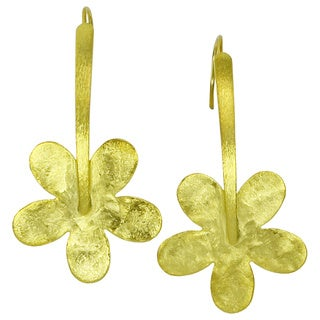 Betty Carre Gold Overlay Flowers Earrings