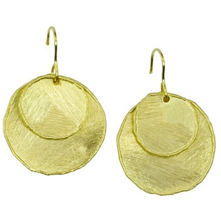 Betty Carre 18k Gold Overlay Melted Coin Earrings