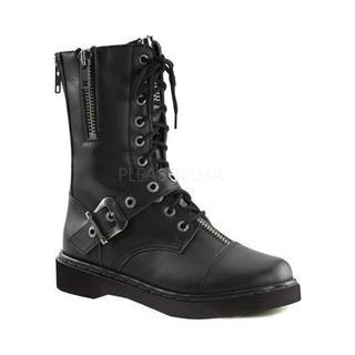 Men's Demonia Defiant 206 Black Vegan Leather Boots