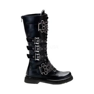 Men's Demonia Defiant 402 Boot Black Vegan Leather (More options available)